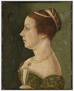 Portrait of a Venetian lady,1475-80 by an unknown Italian painter