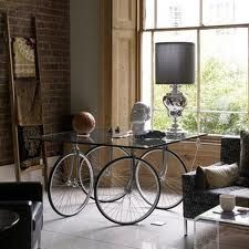 Bicycle tire glass table.  | #Inspired by: The Connor Chino #ClubMonacoChinos