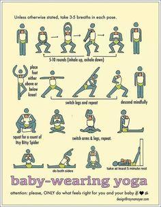 Baby wearing workout