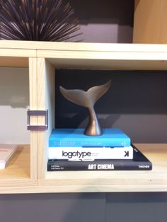 We couldn't resist this whale's tail, on display at @Fay Stovall Brands as the perfect added touch to the Hitch Storage system from Loewenstein. NeoCon 2014