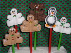 pencil toppers...love the gingerbread men