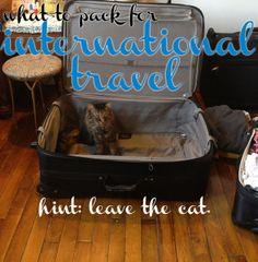 This lady has an interesting blog and I like the way she writes about packing.  international packing