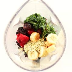 """This healthy wonder is aptly dubbed the """"Hide Your Kale"""" smoothie. But it doesn't stop there: The vegan, gluten-free mix contains two more of our favorite superfoods, pomegranate and hemp seeds."""