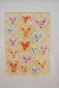 fingerprint easter bunnies