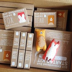 fox and bear kits....love this packaging