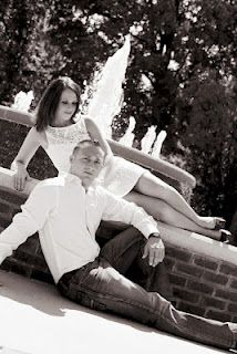 Water fountain engagement picture