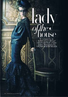 Lady of the House | Nimue Smit | Photographed by Victor Demarchelier | Harper's Bazaar Australia December 2011