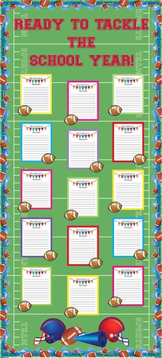 Checkout this great post on Bulletin Board Ideas! Ready to Tackle the School Year! Sports Themed