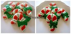 Candycane Cookies with Bows