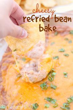 cheesy-refried-bean-bake-recipe