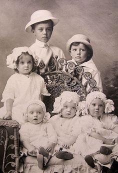 1916--Lovely little brood.