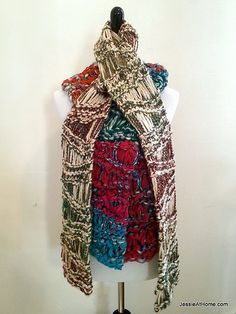 Check out this beautiful scarf Jessie at Home made with our LB Collection Silk Chiffon Ribbon. Not to mention it only uses one skein of yarn!