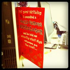 Good old analog birthday cards seem to be well and thriving here
