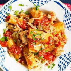 Rigatoni with sausage and fennel ragù