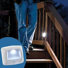 Smarthome.com: Mr Beams Motion-Sensor LED Battery Powered Stair Light