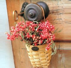 Greeting at the door with a Longaberger Basket