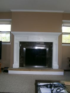 Fireplace refacing on Pinterest