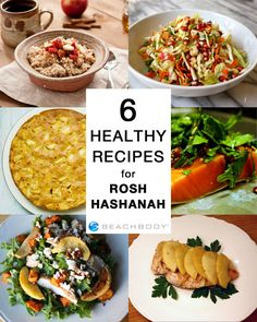 Here are 6 healthy recipes featuring apples, honey, and pomegranates to help celebrate Rosh Hashanah, but don't set these aside just for the High Holiday. Enjoy them all season long! #healthyrecipes #roshhashana #holidayrecipes #recipes #apples #honey #pomegranates