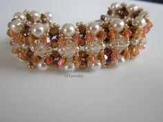 tutori video, crystals, project, bead weav, pearls, pearl bracelets, handmad tutori, tutorial, tutori collect