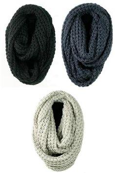 infinity knit scarves.
