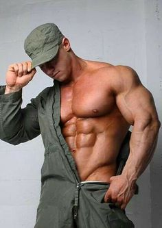Muscular clean man