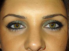 green eyeshadow!
