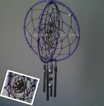Dream catcher wind chimes on pinterest wind chimes for How to make a double ring dreamcatcher