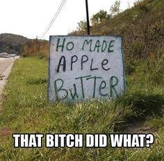 Laughing so hard.