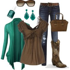 """""""Cute Teal Outfit"""" by maggie478 on Polyvore"""