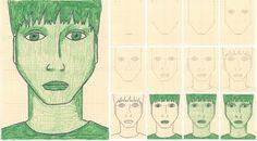 monotone self-portrait