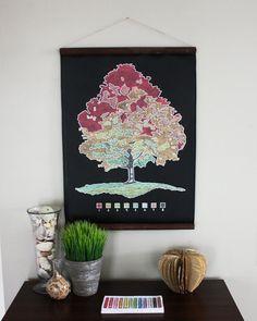 Chalkcloth turned art!! OMG!! I love this!!!