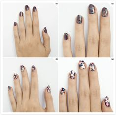 FLORAL PRINT nails.