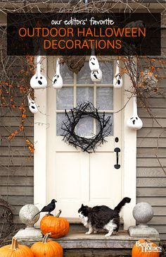 Decorate your outdoors for this spooky holiday with our favorite looks here: http://www.bhg.com/halloween/decorating/outdoor-halloween-decorating-skeletons/?socsrc=bhgpin082914skeletonsonthefrontporch