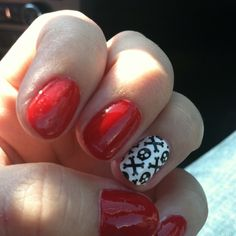 Husker game day nails!