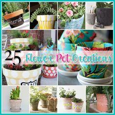 Il Cottage di mercato: 25 Vaso di fiori fai da te di