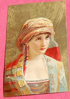 Victorian Color Lithograph Trade Card Dr. Thomas' Eclectric Oil from bestkeptsecrets on Ruby Lane