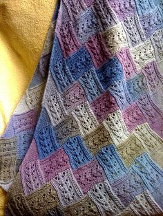 Birch by MGCCGas, via Flickr #knit #entrelac ... Wow, entrelac lace!
