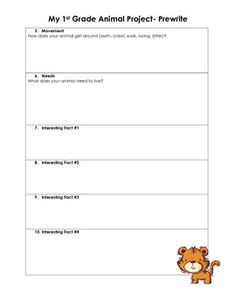 Common Core 1st Grade Writing Project- Animals- great ideas I may have to incorporate for our research project.