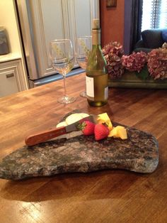 Upcycled Granite Cheese Board by CountertopCouture on Etsy, $38.00