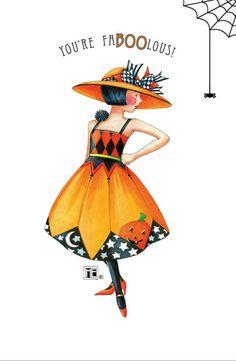 Mary Engelbreit Halloween fabool halloween, mari engelbreit, folded cards, halloween cards, halloween costumes, mary engelbreit, art, mari englebreit, fall dresses