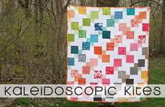 Kaleidoscopic Kites Free Quilt Pattern. SR - A little fiddlely but looks like in would be worth it.
