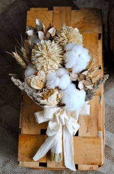 Bridal Bouquet  Natural Cotton Bolls  Raw by TALLCOTTONnPEAS, $75.00