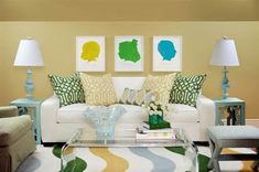 15 Easy Ways to Add Color to any room.   This idea would be cute in a dorm- silhouettes of you and your roommate.