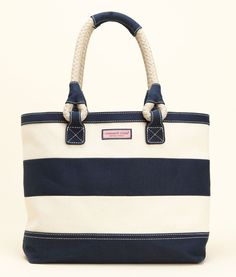 Striped Rope Tote
