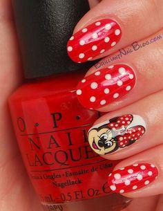 minnie mouse nail art 1 - cute,cute,cute!♥♥♥
