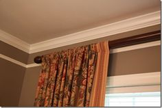 Potential idea to make curtain rods using pvc pipe and fence post caps. So creative!