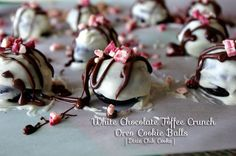 White Chocolate Toffee Peppermint Crunch Oreo Cookie Balls