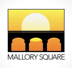 Conceptual logo for Mallory Square in Key West, Florida