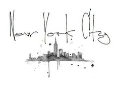 New York City skyline tattoo