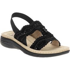 Walmart comes out with these sandals (in slightly different forms) every year. They are probably the most comfortable shoes I have ever worn. I usually get them in black and brown for work.